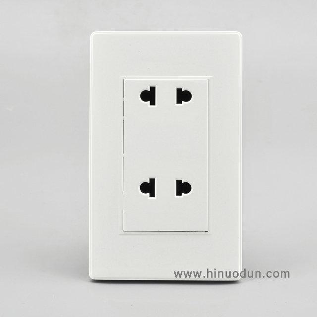 118B-06 15A duplex 2pin universal outlet